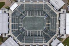 WTA: Maart 16 Satellietbeelden van het Volvo-Auto Open Belangrijkste Stadion royalty-vrije stock foto's