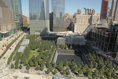 WTC、自由塔和财政区, NYC 免版税图库摄影