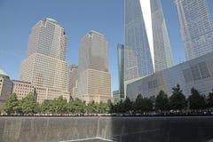 WTC、自由塔和财政区, NYC 库存图片