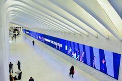 WTC在NYC的地铁站 免版税库存照片