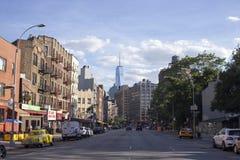 1WTC看法从曼哈顿的 免版税库存图片