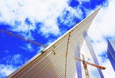 WTC运输插孔翼的片段在财政区 免版税库存图片