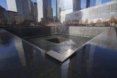WTC,全国9月11日纪念品,纽约,纽约,美国瀑布脚印  库存照片