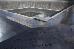 WTC,全国9月11日纪念品,纽约,纽约,美国瀑布脚印  免版税图库摄影