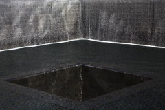 WTC,全国9月11日纪念品,纽约,纽约,美国瀑布脚印  库存图片