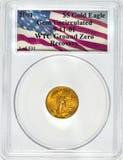 WTC-Bodennullpunkt-Gold Eagle Stockbild