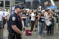 WTC demonstration 2007 Stock Photography