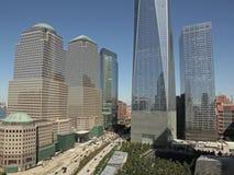 WTC, Freedom Tower y distrito financiero, NYC Fotos de archivo libres de regalías