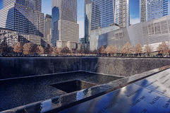 WTC 9-11 Memorial fountain Royalty Free Stock Images
