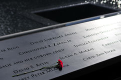 WTC Memorial, Inscriptions Royalty Free Stock Photos