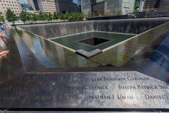 WTC Memorial New York City. WTC Memorial granite pools in Manhattan Island buildings, New York City, United States Stock Image