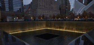WTC 9/11 minnesmärke i New York Arkivbild