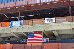 WTC tower 4 construction site Royalty Free Stock Photography