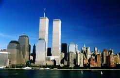 WTC-tvillingbröder i New York, USA Royaltyfri Fotografi
