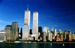 WTC twin towers in New York,USA Royalty Free Stock Photography