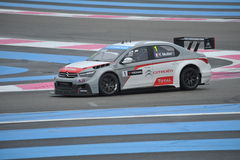 WTCC 2014 France. Paul Ricard Circuit stock image