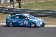 WTCC-, Sieger Yvan-Muller auf Hungaroring - 2011 Lizenzfreie Stockbilder