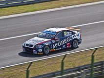 WTCC Tom Coronel. Event of racing tourism WTCC in the circuit of Hungaroring, Hungary, on May 5, 2013. Photo of Tom Coronel, with the BMW 320 TC Stock Photography