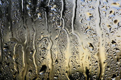 Wter on glass. Close-up of water on glass royalty free stock image