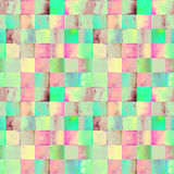 Wtercolor pattern with gradient squares Stock Photos