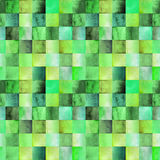 Wtercolor pattern with gradient squares Royalty Free Stock Photo
