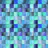 Wtercolorpatroon met gradiëntvierkanten Stock Afbeeldingen