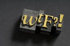 WTF ? ! Images stock
