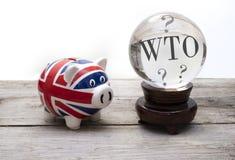 WTO预言,英国将有WTO没有成交brexit成交 免版税图库摄影