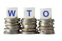 WTO - Organização Mundial de Comércio Imagens de Stock Royalty Free
