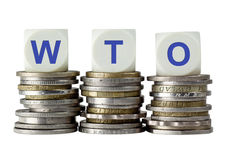 WTO - Världshandelsorganisation Royaltyfria Bilder