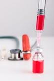 wtryskowe medyczne buteleczki Zdjęcie Stock