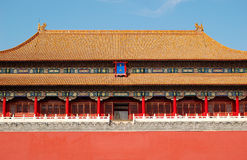 Wu gate, forbidden city. The forbidden city, also called palace museum, world historic heritage, Beijing China. Shot at the wu gate in a fine day Stock Images