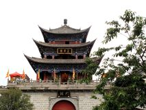 Wu Hua Tower in Ancient City of Dali Stock Photo