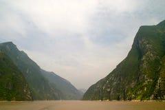 Wu-Schlucht auf dem Jangtse Stockbild