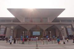 Wuchang järnvägstation fotografering för bildbyråer