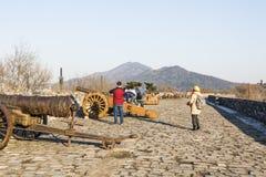 Wucheng Yonggu cannon and Hongyi cannon Royalty Free Stock Images