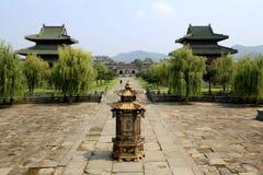 Wudang berg, ett heligt land för berömd Taoist i Kina Arkivfoto