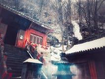 Wudang-Gebirgsaltes Gebäude in China stockbild