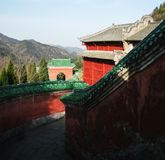 Wudang-Gebirgsarchitektur, stockfoto