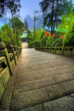 Wudang Shan Temple Walkway Royalty Free Stock Photography