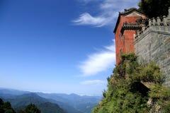Wudangberg, een beroemd Taoist Heilig Land in China stock foto's