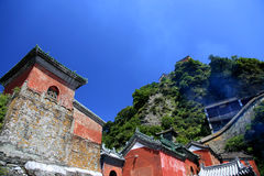 Wudangberg, een beroemd Taoist Heilig Land in China stock foto