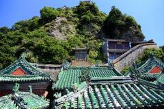 Wudangberg, een beroemd Taoist Heilig Land in China stock afbeelding