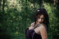 Wudu czarownica w drewnach Obraz Stock