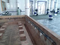 Wudu. A place for wudu in a mosque Royalty Free Stock Photos