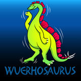 Wuerhosaurus cute character dinosaurs Stock Photos
