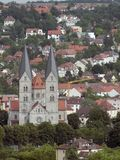 Wuerzburg with Adalbero Church Stock Photography