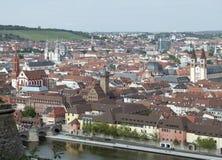 Wuerzburg. Aerial view of Wuerzburg, a city in Bavaria Stock Photos