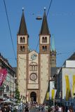 WUERZBURG, ALEMANHA - 5 de maio de 2018: Catedral de Wuerzburg e Fotos de Stock Royalty Free