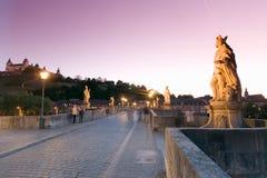 Wuerzburg,baroque statues on the Old Main-Bridge Royalty Free Stock Photo